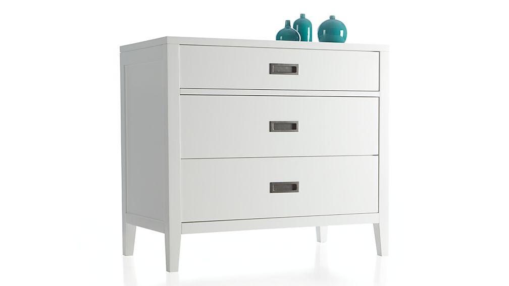 Arch White 3-Drawer Chest