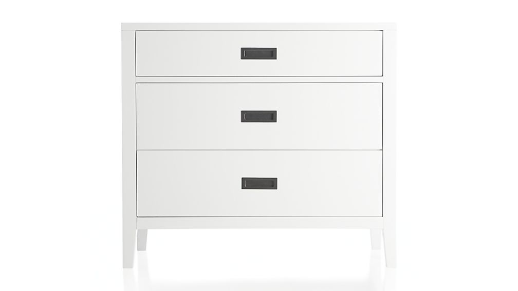 Arch White 3 Drawer Chest Reviews Crate And Barrel