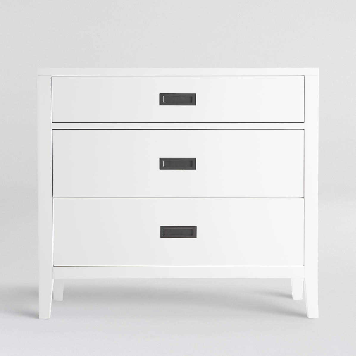 Arch White 3 Drawer Chest Crate And Barrel Canada