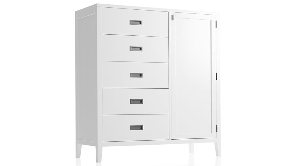 Arch white wardrobe in armoires reviews crate and barrel for Crate and barrel arch