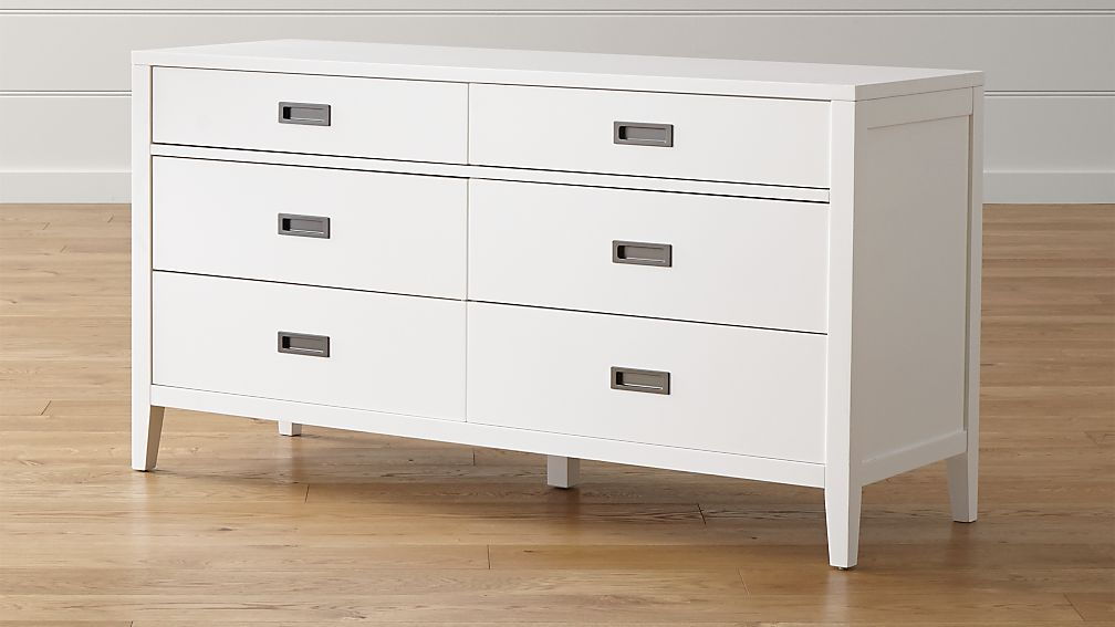 Arch White 6-Drawer Dresser + Reviews | Crate and Barrel