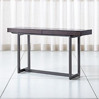 Accent tables coffee console end side tables crate and barrel archive grey console table watchthetrailerfo