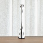 Arden Large Mirrored Stainless Steel Taper Candle Holder