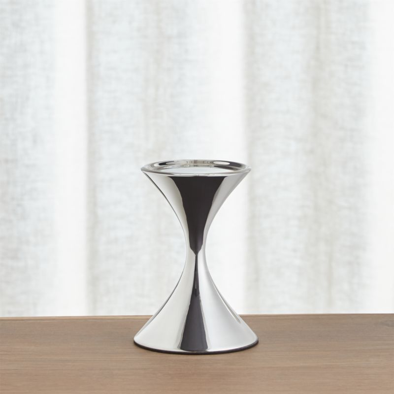 Arden Short Stainless Steel Pillar Candle Holder Reviews