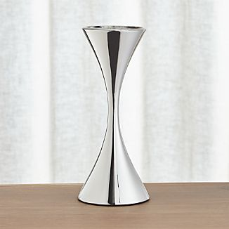 Arden Tall Stainless Steel Pillar Candle Holder