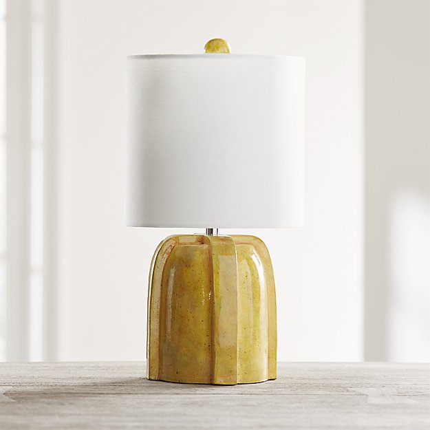 Arenson Yellow Ceramic Table Lamp - Image 1 of 4