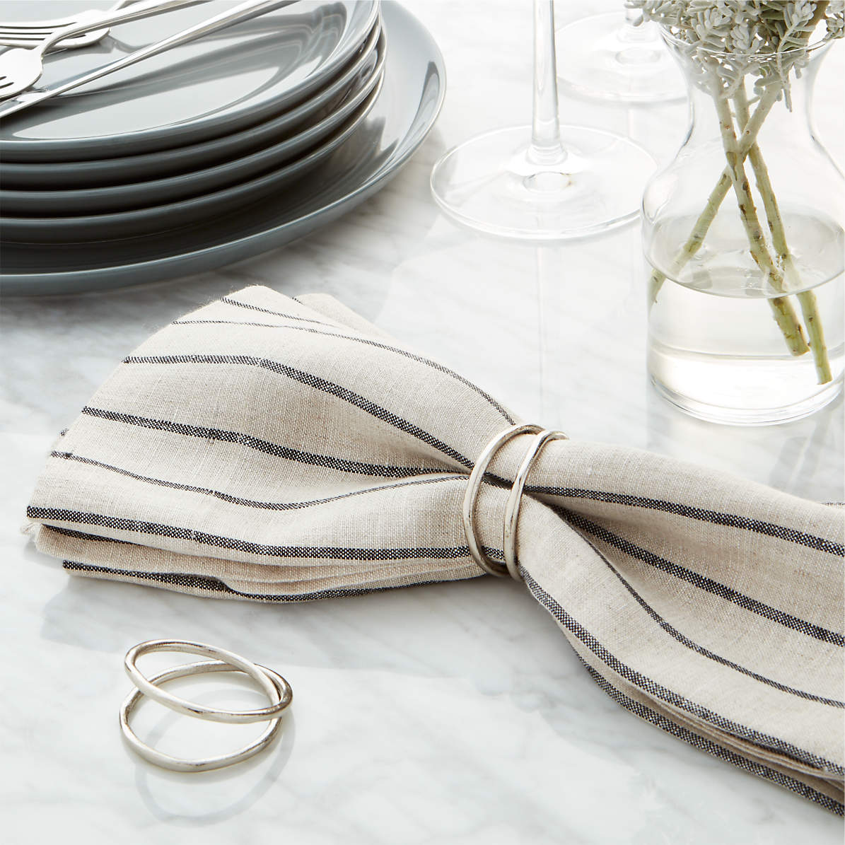 Aria Silver Napkin Ring Reviews Crate And Barrel