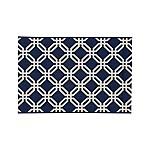 Arlo Indoor/Outdoor Blue Lattice Rug 2'x3'