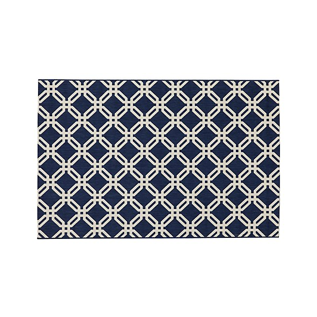 Arlo Blue Indoor/Outdoor 4'x6' Rug