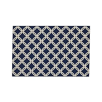 Arlo Blue Indoor/Outdoor 5'x8' Rug