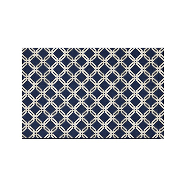 Arlo Blue Indoor/Outdoor 6'x9' Rug