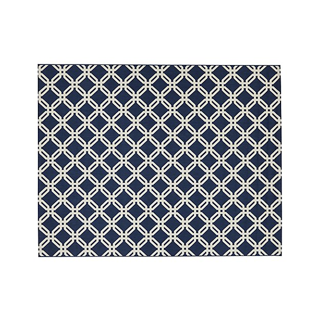 Arlo Blue Indoor/Outdoor 8'x10' Rug