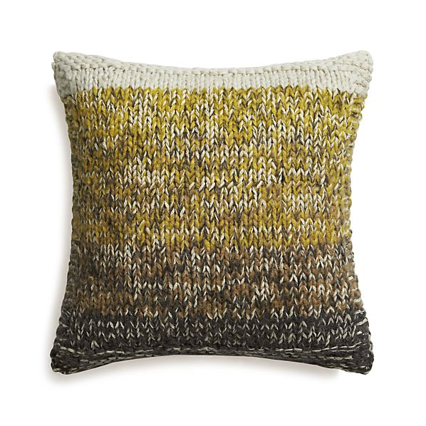 """Arlo Yellow 20"""" Pillow with Feather Insert"""