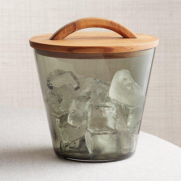 Arlo Smoke Glass Ice Bucket