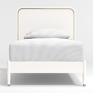 Arlo White and Gold Bed