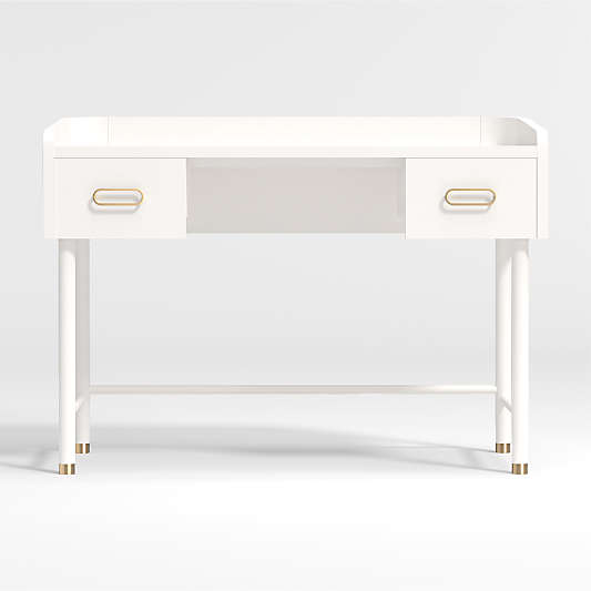 Kids Arlo White and Gold Desk