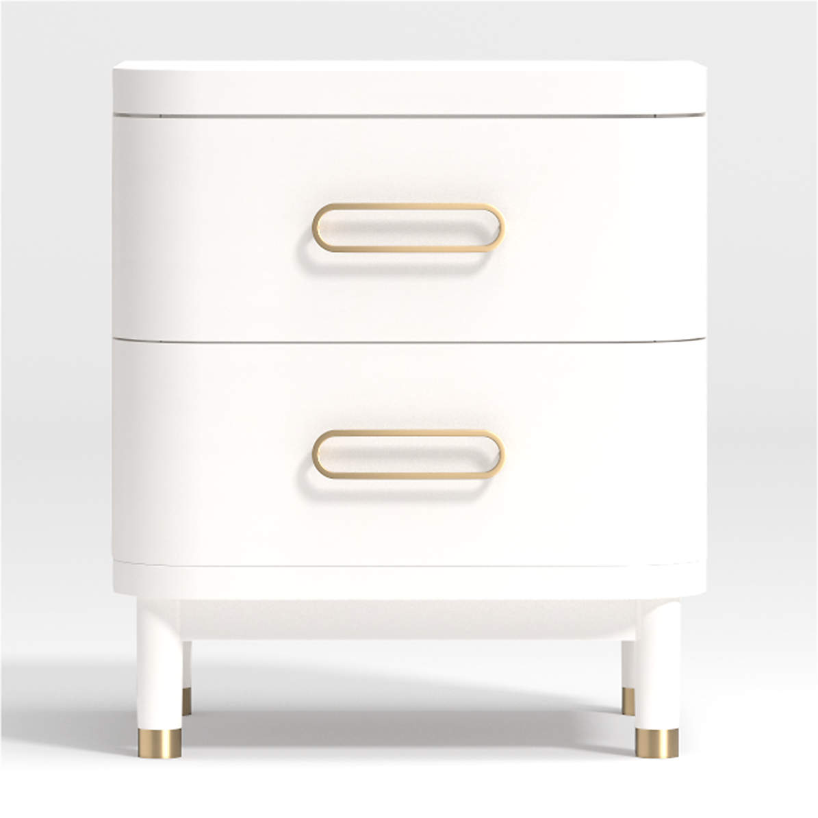 Kids Arlo White And Gold Nightstand Reviews Crate And Barrel