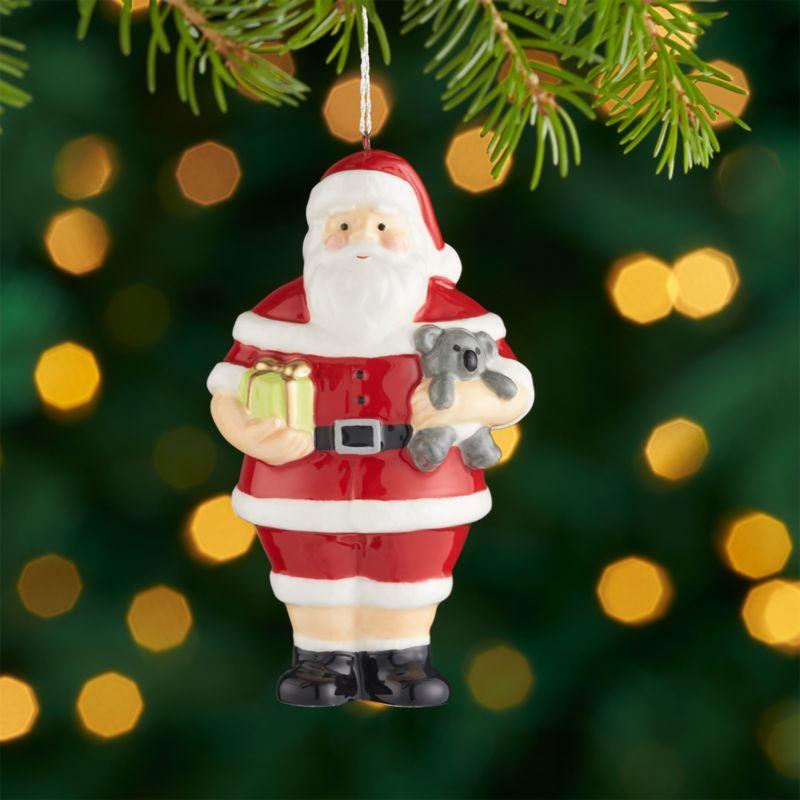 Santa Ornaments  Crate and Barrel