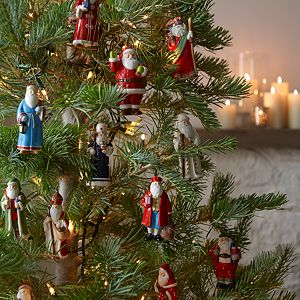 Set of 15 Around the World Santa Ornaments