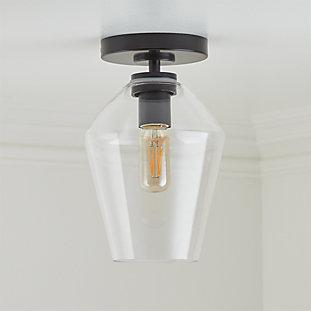 Arren Black Flush Mount Light With