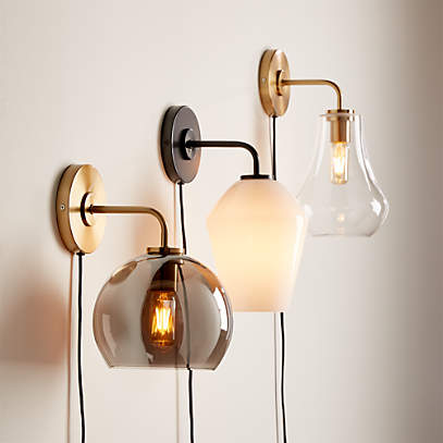 Arren Wall Sconces With Shades Crate And Barrel