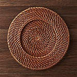 Artesia Honey Rattan Charger Plate