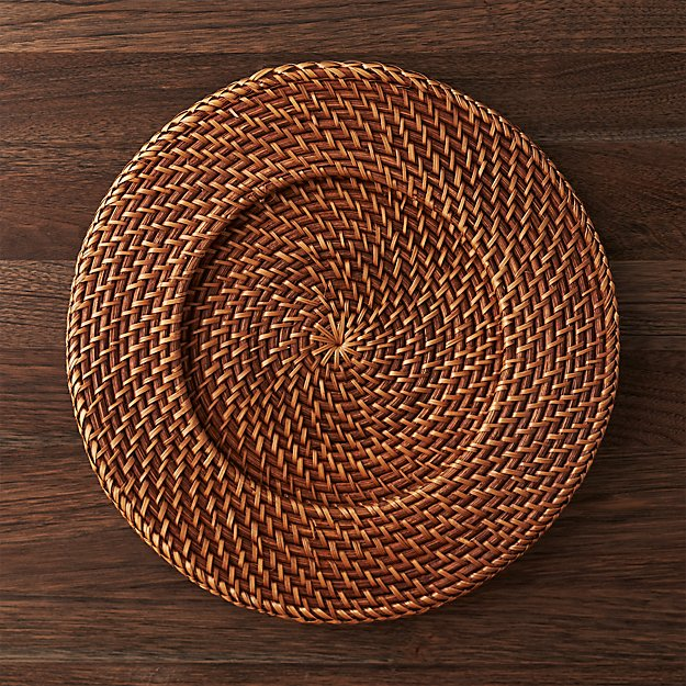 Artesia Honey Rattan Charger Plate - Image 1 of 11