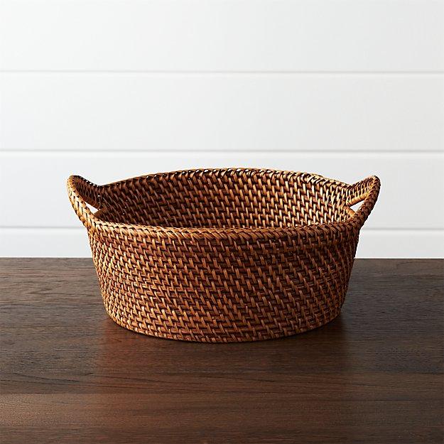 Artesia Large Honey Rattan Bread Basket. - Image 1 of 9