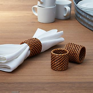 Artesia Honey Rattan Napkin Ring