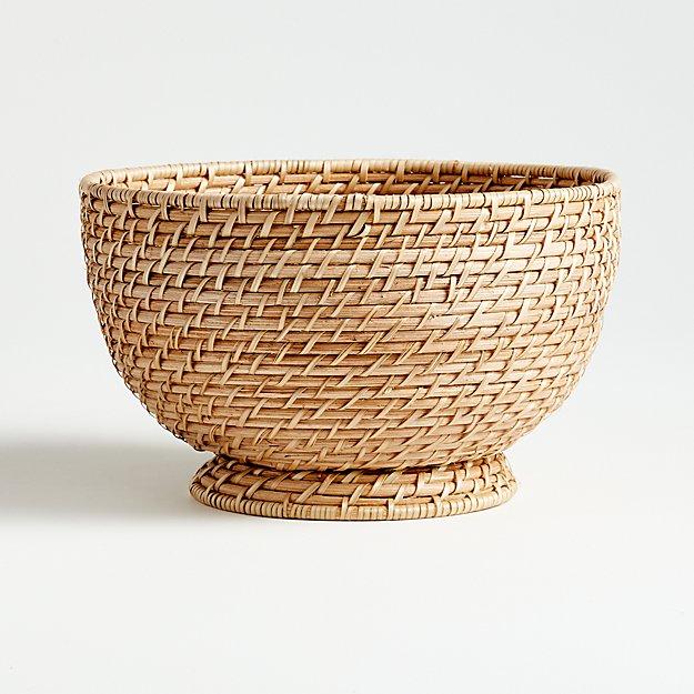 Artesia Natural Large Rattan Bowl - Image 1 of 3