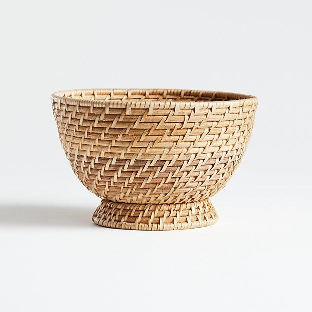 Artesia Natural Small Rattan Bowl - Image 1 of 3