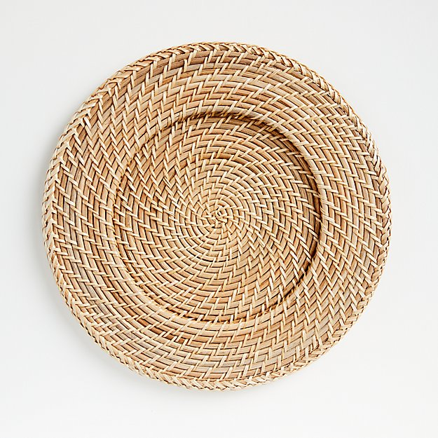 Artesia Natural Rattan Charger Plate - Image 1 of 3