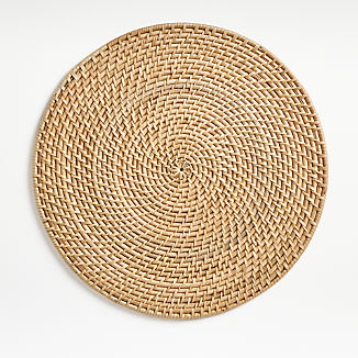 Artesia Natural Round Placemat
