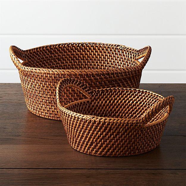 Rattan Bread Baskets Crate And Barrel