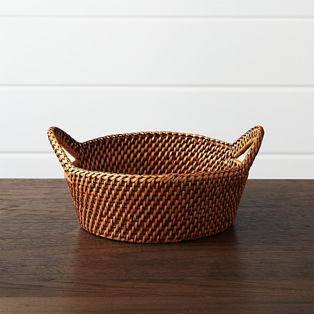 Artesia Small Honey Bread Basket Crate And Barrel