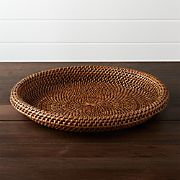 Artesia Honey Rattan Serving Tray