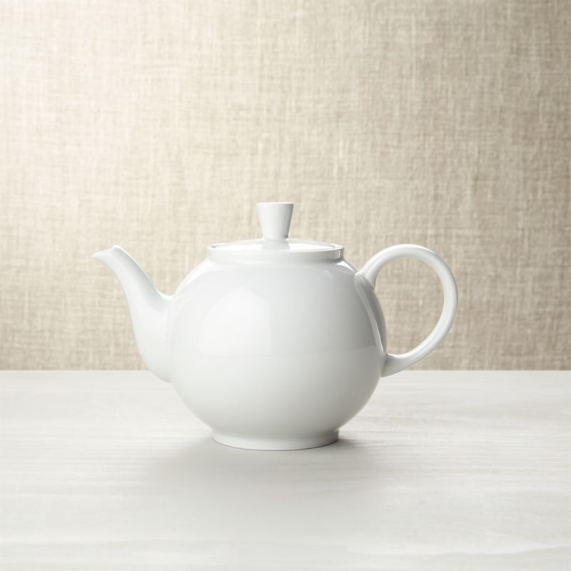 "Inspired by the Bauhaus school movement, this simply beautiful teapot was designed in 1931 for the Arzberg porcelain factory in Germany. It's a classic that's as fresh today as it was the day when a young high school teenager by the name of Gordon Segal first bought the teapot as a birthday gift for his mother who loved making tea in the afternoons. When he grew up and opened the very first Crate and Barrel store in Chicago with his wife in 1962, he bought it again. And again. And again. Today, over 45 years later, Arzberg continues to be one of our most popular, all-time classics. Perfect proportions, beautiful central shape, exquisite white porcelain.<br /><br />Check out our best <a href=""/ideas-and-advice/tea-party-ideas"">tea party tips and advice</a>.<br /><br /><NEWTAG/><ul><li>Pure porcelain</li><li>Dishwasher- and microwave-safe</li><li>Made in Germany</li></ul><br /><br />"