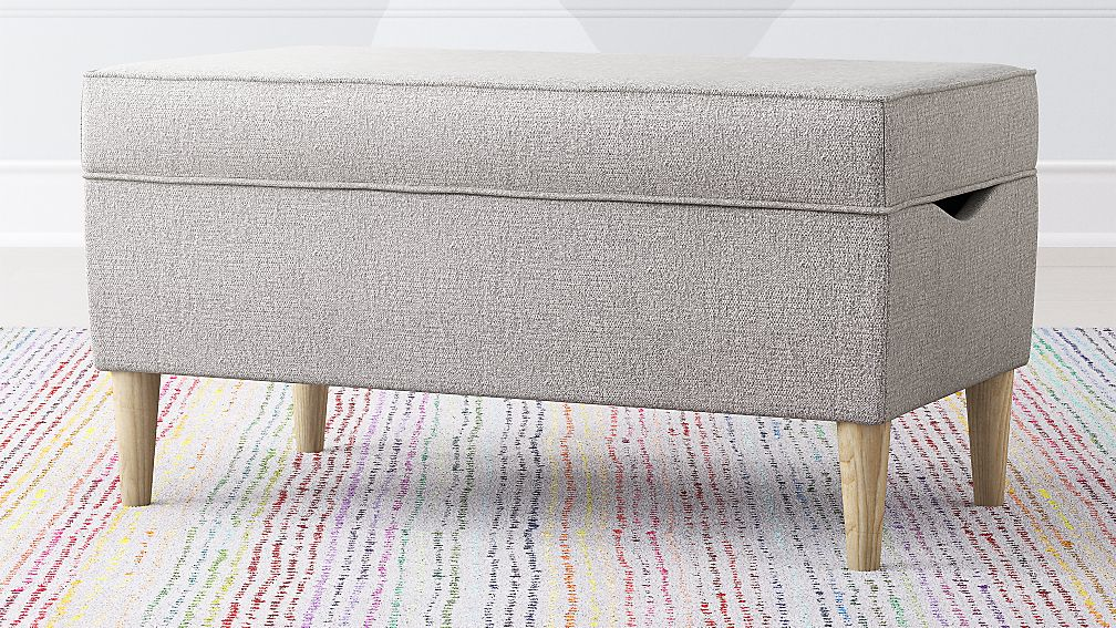 As You Wish Light Grey Upholstered Storage Bench Reviews