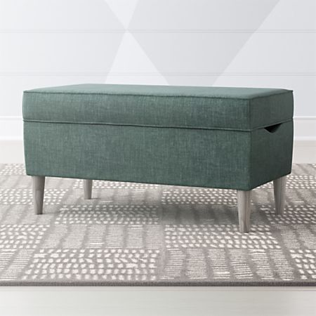Wondrous As You Wish Teal Upholstered Storage Bench Crate And Barrel Machost Co Dining Chair Design Ideas Machostcouk