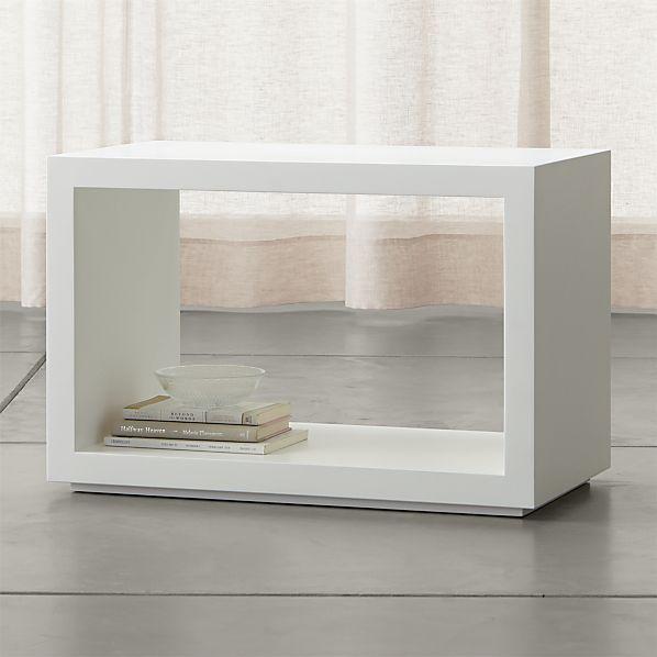 """Ascend II White 27"""" Open Storage Unit"""