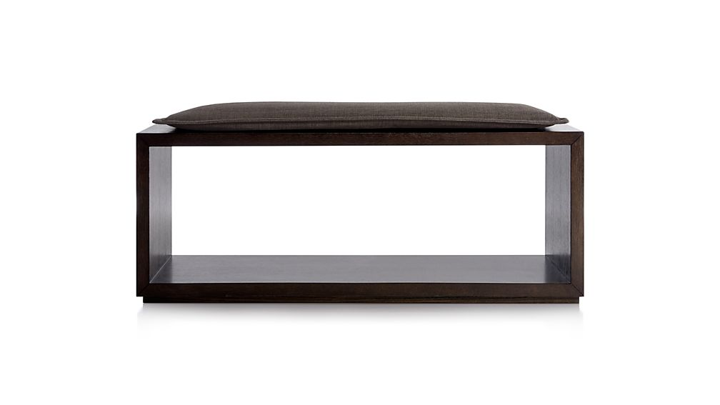 "Aspect Coffee 47.5"" Open Bench with Cushion"