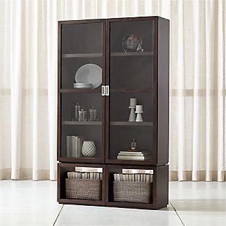 Aspect Coffee 4 Piece Glass Door Storage Unit
