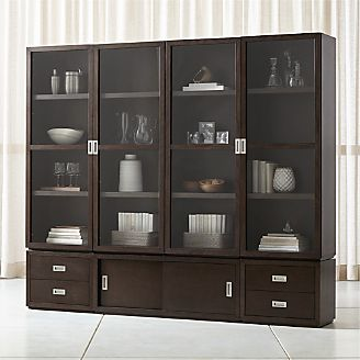 Aspect Coffee 7 Piece Glass Door Storage Unit
