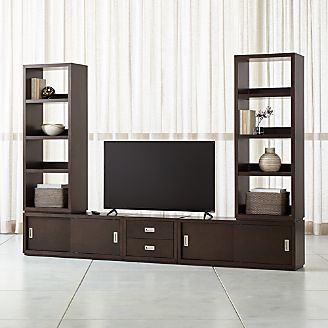 Aspect Coffee Modular Media Center With Drawers