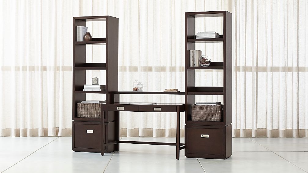 Aspect Coffee Modular Office With 2 File Cabinets Reviews Crate And Barrel