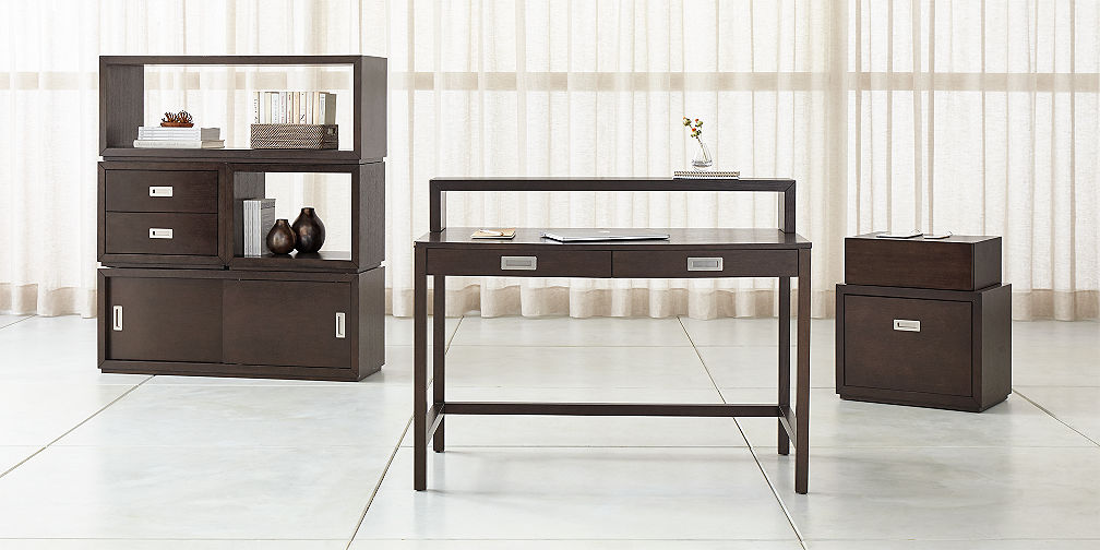Aspect Coffee Modular Home Office Collection. Modular Office Furniture   Crate and Barrel