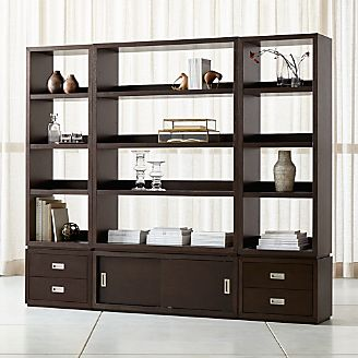 aspect coffee 6piece open storage unit with drawers