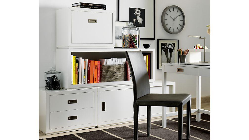 Aspect White Desk with Hutch