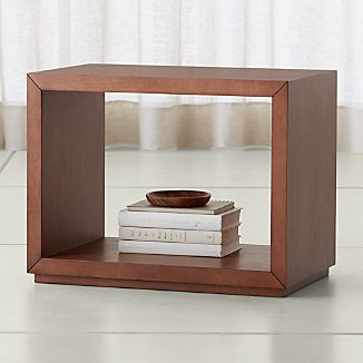 "Aspect Walnut 23.75"" Modular Open Storage Unit"
