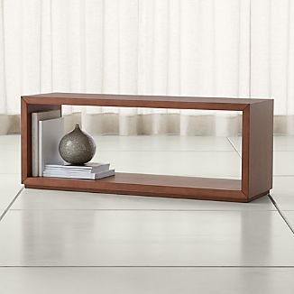 "Aspect Walnut 47.5"" Modular Open Storage Unit"